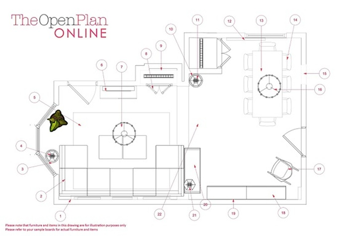 Example of Plans and Drawings for Commercial and Residential Interior Design