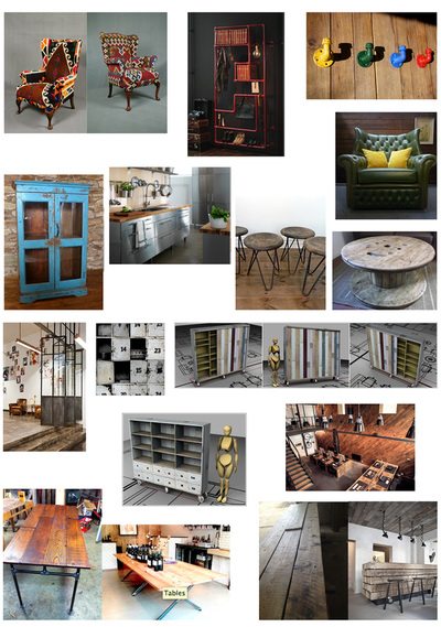 Professional Mood boards showing interior design concepts for commercial spaces
