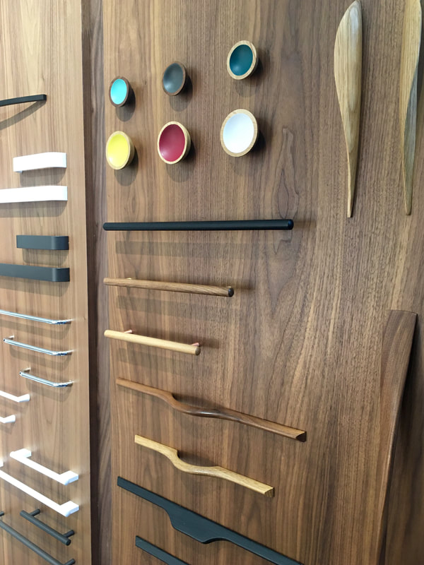 Wooden kitchen cupboard handles by Gamma Fittings